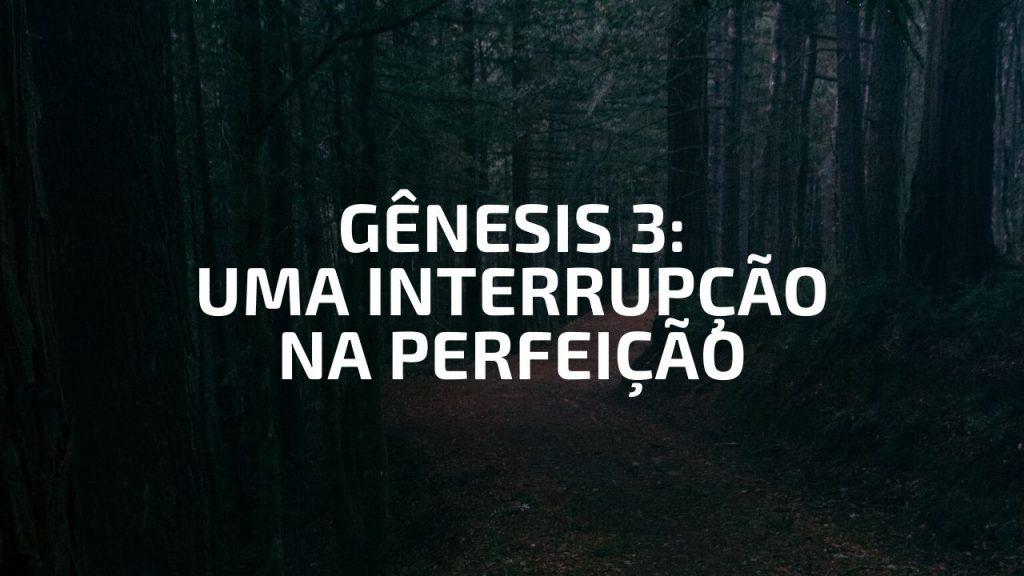 GÊNESIS 3 - UMA INTERRUPÇÃO NA PERFEIÇÃO